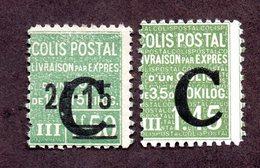 France Colis N°113,114 N* TB Cote 42 Euros !!! - Colis Postaux