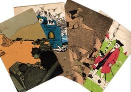 4 Grandes Chromos MONO Des Années 1906 -1910, Pub Interessanntes, Suisse, Schweiz - Trade Cards