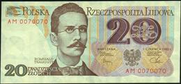 POLAND - 20 Zlotych 01.06.1982 {Narodowy Bank Polski} UNC P.149 - Poland