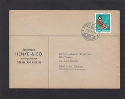 SCHUHFABRIK, STEIN AM RHEIN.BRIEF MIT B. MARKE SCHMETTERLING/BUTTERFLY/PAPILLON. - Suisse