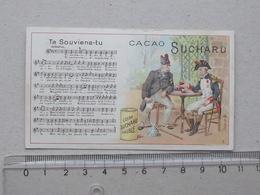 """CHROMO Chocolat SUCHARD: """"Te Souviens-tu"""" CHANSON MILITAIRE Série 146 (N°8) - Partition Musique Militaria Soldat - Suchard"""