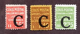 France Colis N°108,112,117 N* TB Cote 50 Euros !!! - Colis Postaux