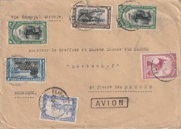 Congo Belge - Lettre Avec TP 175/ 178/ PA3/ PA4/ PA5 D'Elisabethville Vers St Pierre Lez Bruges 1933 - Congo Belge