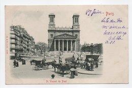 - CPA PARIS (75) - Eglise St. Vincent De Paul 1901 (belle Animation) - Edition St. & Co. 10130 - - Kerken