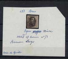 N°6 GESTEMPELD P73 17B Liege MET 4 MARGES COB € 10,00 + COBA € 3,00 SUPERBE - 1851-1857 Médaillons (6/8)