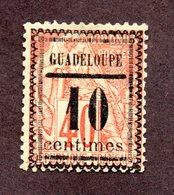 "Guadeloupe N°7 ""centimes"" 12,5 Mm N* TB  Et Signé Cote 175 Euros !!!RARE - Nuevos"