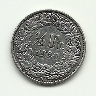 1920 - Svizzera 1/2 Franc - Argento - Svizzera