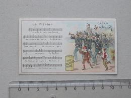 """CHROMO Chocolat SUCHARD: """"Le Vitrier"""" CHANSON MILITAIRE Série 146 (N°11) - Partition Musique Militaria Soldat Fanfare - Suchard"""
