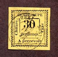 Guadeloupe Taxe N°10 Oblitéré B/TB Cote 200 Euros !!! - Guadeloupe (1884-1947)