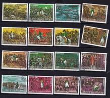 34 Timbres Oblitérés Napoléon Et Soldats, Guinée Equatoriale - Napoleon