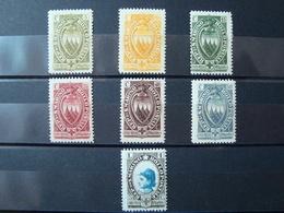 SAN MARINO 1923 SERIE COMPLETA NUOVA **/* MNH/MLH N. 90-96 CAT. € 40,00 - San Marino