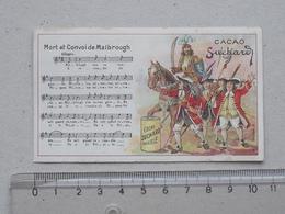 """CHROMO Chocolat SUCHARD: """"Mort Convoi MALBROUGH"""" CHANSON MILITAIRE Série 146 (N°6) - Partition Musique Militaria Soldat - Suchard"""