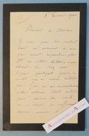 L.A.S 1901 Louis Ernest BARRIAS Sculpteur- Comité Monument D'un Grand Artiste - Lettre Autographe LAS - Né à Paris - Autographes