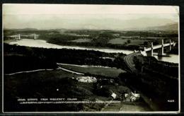 Ref 1299 - Real Photo Postcard - Menai Straits & Anglesey Column Wales - Anglesey