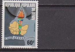 Benin 1982 Flags West African Economic Community Comunità Economica MNH - Francobolli