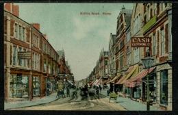 Ref 1299 - Early Postcard - Holton Road & Shops Barry - Glamorgan Wales - Glamorgan