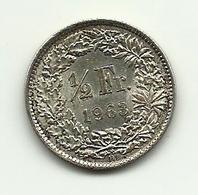 1963 - Svizzera 1/2 Franc - Argento - Svizzera