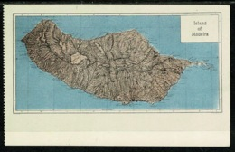 Ref 1299 - Early Postcard - Map Of The Island Of Madeira Portugal - Madeira