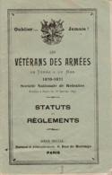 VETERANS DES ARMEES 1870 1871 SOCIETE NATIONALE DE RETRAITES - Other
