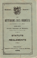 VETERANS DES ARMEES 1870 1871 SOCIETE NATIONALE DE RETRAITES - Libros, Revistas & Catálogos