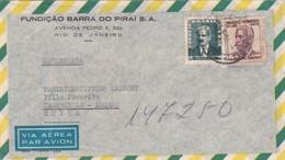 BUSTA VIAGGIATA  AIR MAIL - BRASILE - RIO DE JANEIRO - FUNDICA'O BARRA PIRAI S.A. - VIAGGIATA PER CASTAGNOLA (SVIZZERA) - Brasile