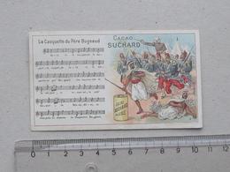 """CHROMO Chocolat SUCHARD: """"Casquette Père BUGEAUD"""" CHANSON MILITAIRE Série 146 (N°3) - Partition Spahis Militaria Soldat - Suchard"""