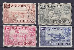 Ethiopia 1952 Mi. 319, 322, 324-25 Wiedervereinigung Eritreas Mit Äthiopien - Äthiopien