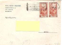 ITALIA - 1951 MILANO VII Convegno Metano Petrolio Taormina + Retro MONZA £ Risparmiata £ Guadagnata Cassa Risp.- 1664 - 1946-.. République