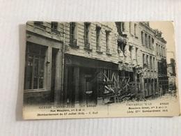ARRAS 9 Et 11 Rue Meaulens Bombardement Du 27 Juillet 1915 - Arras
