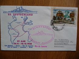 (zw) Schiffpost Shipmail SS DEUTSCHLAND SCHULSCHIFF 1968 RIO DE JANEIRO BRASIL - Boten