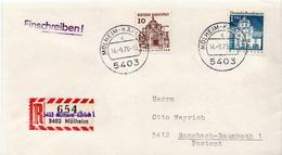 Postal History: Germany R Cover With Overprinted Label: Mülheim-Karlich On Mülheim - [7] Federal Republic