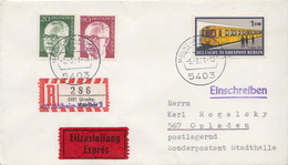 Postal History: Germany R Cover With Overprinted Label: Mülheim-Karlich On Urmitz - [7] Federal Republic