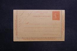 FRANCE - Entier Postal Type Semeuse , Non Circulé - L 31470 - Postal Stamped Stationery