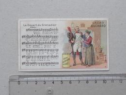 """CHROMO Chocolat SUCHARD: """"Départ Du Grenadier"""" CHANSON MILITAIRE Série 146 (N°9) - Partition Musique Militaria Soldat - Suchard"""