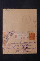 FRANCE - Entier Postal Type Semeuse + Complément En Recommandé De Le Vaudoué En 1933 Pour Paris - L 31472 - Postal Stamped Stationery