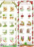Japon Nippon 2016 7792/801 Salutations, Jardinage, Rose, Thé, Arbre, Flore - Végétaux