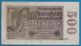 DEUTSCHES REICH 500 Millionen Mark  01.09.1923# NF-17  024582    P# 110d - [ 3] 1918-1933: Weimarrepubliek