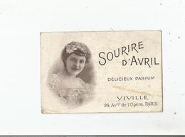 CARTE PARFUMEE ANCIENNE SOURIRE D'AVRIL DE VIVILLE PARIS - Vintage (until 1960)