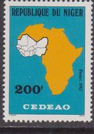Niger 1982  West African Economic Community CEDEAO MAP MAPPA Economia MNH - Geografia