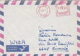 BUST VIAGGIATA AIR MAIL - PERù - VIAGGIATA PER MINUSIO (SVIZZERA) - Perù