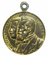 Medaglietta / Souvenir - Visita A ROMA Del Presidente Francese Émile LOUBET (1904) Fete De Rome - Monarchia/ Nobiltà