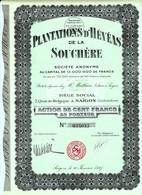 SAIGON / PLANTATIONS D'HEVEAS DE LA SOUCHERE 1927 - Asie