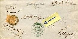 45503 Italia,comunicaz. 1875 Da Barbarano Vicenza A Valdagno - ...-1850 Préphilatélie
