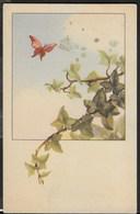 UNA FARFALLA SULL EDERA - FORMATO PICCOLO - TIP. LUCCHI - SCRITTA E DATATA 1946 - Cartoline