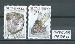 SLOWAKEI MICHEL SATZ 718,719 Gestempelt Siehe Scan - Slowakische Republik