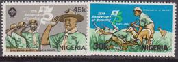 NIGERIA - 1982, BOY SCOUT  Set MNH - Nuovi
