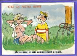 Carte Postale Humour Sexy Par Alexandre  Illustrateur Cyliste Vélo Très Beau Plan - Alexandre