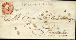 45508 Italia, Lombardo Veneto Comunicaz 27.1.1859 Da Revere Mantova A Guastalla - Italy