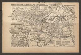 CARTE PLAN 1928 - MOYENS D'ACCES TRAIN - GARE St LAZARE MARLY LE ROI L'ETANG LA VILLE LOUVECIENNES BAILLY - Mapas Topográficas