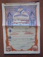 PORTUGAL - COMPANHIA DE NAVEGACAO - ACTION DE 650$00 - PONTA DELGADA 1928- BELLE DECO - Actions & Titres